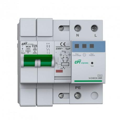 Protector contra sobretensiones Cirprotec V-CHECK 2MR-40 A Monofásica
