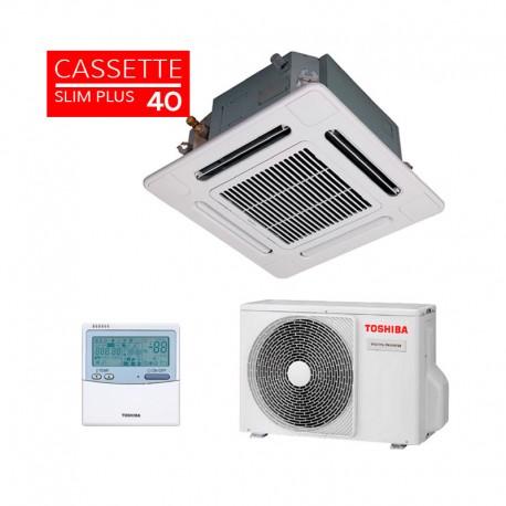 Aire acondicionado Toshiba Cassette Slim Inverter Plus 40 de 3.6 Kw