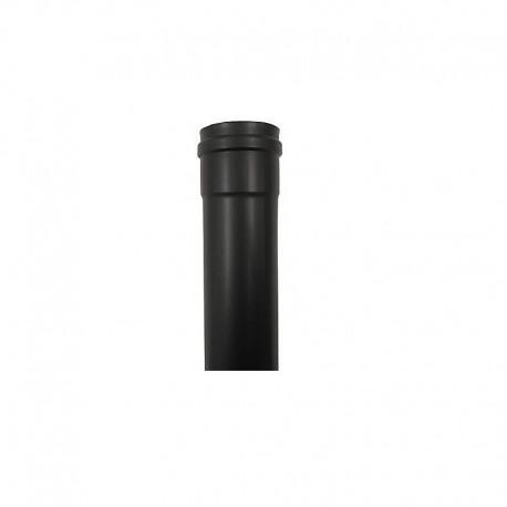 Tubo en acero vitrificado negro de simple pared de Ø100mm Deko Pellets (445mm)