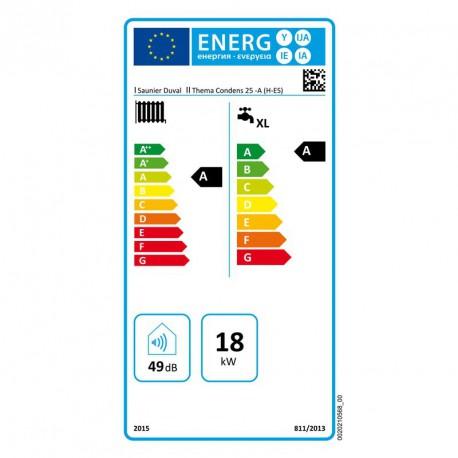 Caldera Saunier Duval de condensacion Thema 25 (opc. termostato Exacontrol / Migo)