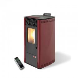 Estufa de pellets (biomasa) maXlor Burn 10 Burdeos de alto rendimiento