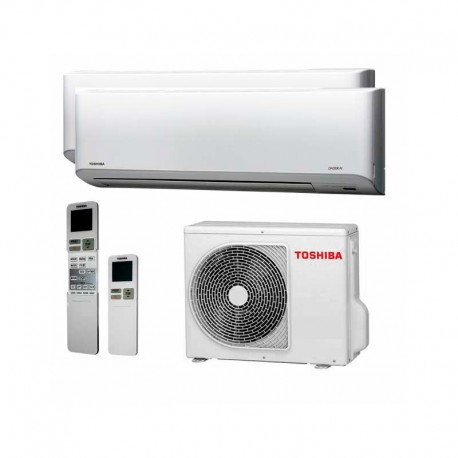 Aire Acondicionado 2x1 Ultra Silencioso Toshiba Multisplit 4kw A A