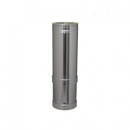 Tubo extensible de acero inoxidable Dinak de simple pared de Ø100 mm DW Pellets