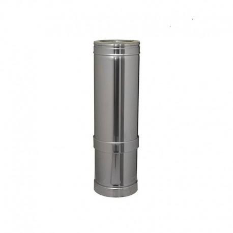 Tubo extensible largo de 100 en acero inoxidable Dinak de simple pared DW Pellets 530-880 mm