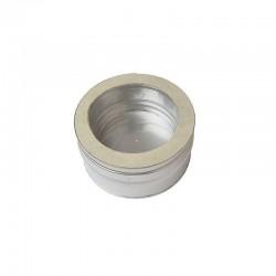 Colector hollín de doble capa 100 mm para estufa de pellets acero inox Dinak DW Pellets