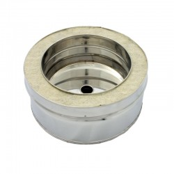Colector hollín desagüe de doble capa 150 mm para estufa de pellets acero inox Dinak DW Pellets