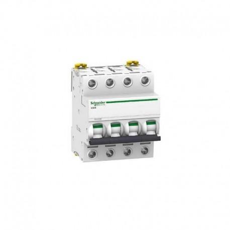 Interruptor magnetotérmico 4p de 50A Schneider iC60N A9F79450
