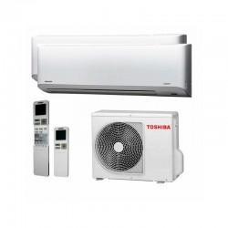 Aire Acondicionado 2x1 Ultra Silencioso Toshiba Multisplit 4kW A++/A+ MIRAI 10