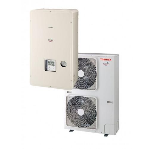 Aerotermia Toshiba ESTIA ALFA 55º - bomba calor aire agua de 6kW en frío y 8Kw en calefacción
