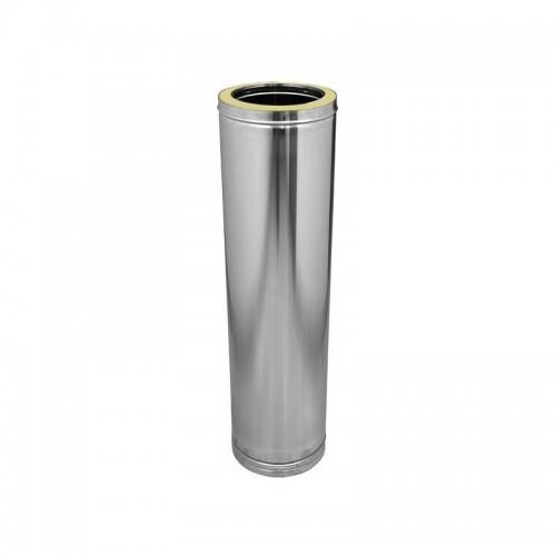 Tubo acero inoxidable recto corto Ø150 mm Dinak DP 304 / 304 de doble pared 290 mm