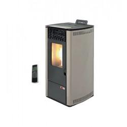 Estufa de pellets canalizable 10 kW de alto rendimiento AMG Burn 12C Beige
