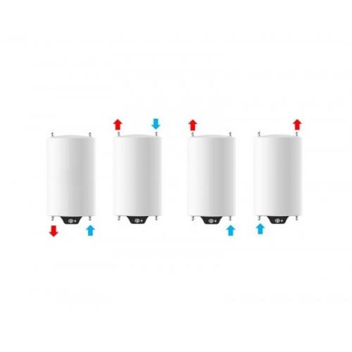 Instalación vertical de Termo eléctrico de 120 litros Aparici H120 multiposicional