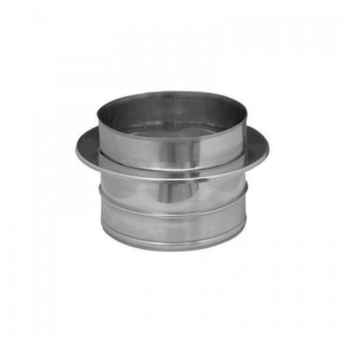 Transformador de tubería de simple pared a doble pared acero inox de 100 mm Dinak para estufa de pellets