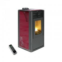 Estufa de pellets canalizable Maxlor Burn 16C Burdeos de alto rendimiento