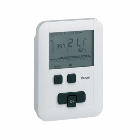 Termostato digital ambiente inalámbrico Hager EK570