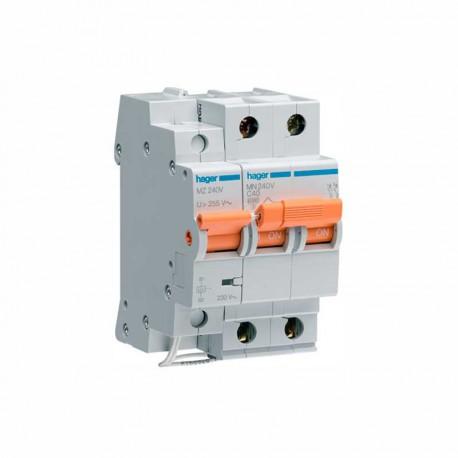 Interruptor automático general + límite sobrecargas permanente 2P 40A