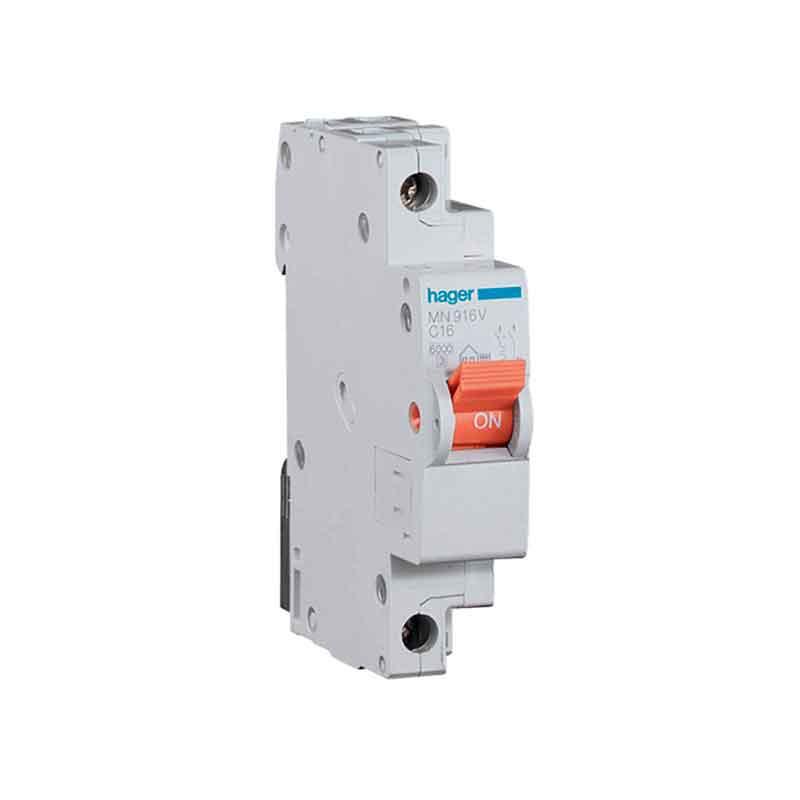 Interruptor autom tico estrecho hager mn910v rp - Interruptor general automatico ...