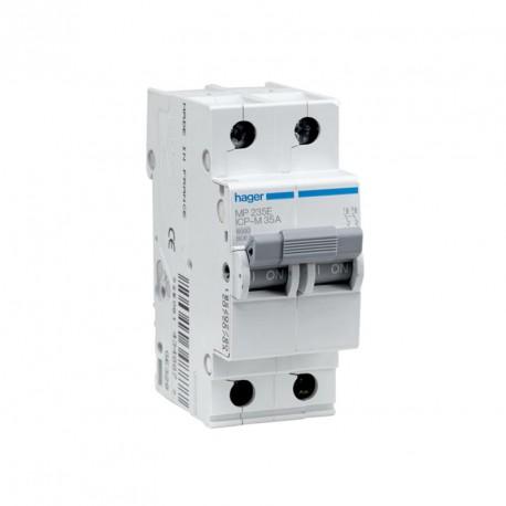 Interruptor magnetotérmico Hager MP220E