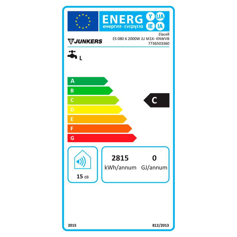Termo el ctrico junkers elacell 80 vertical es 080 v 80 litros - Termo electrico junkers ...