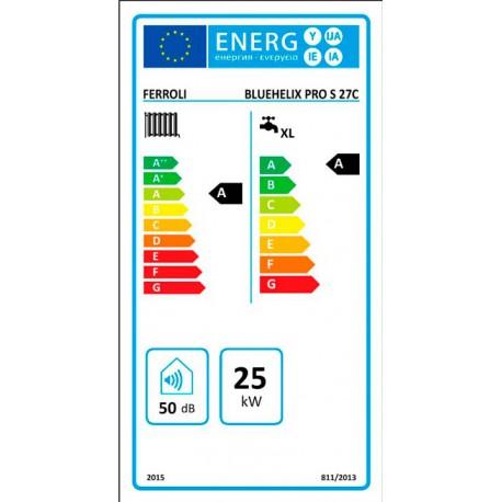 Etiqueta Energética Caldera Bluenelix Pro S 27 C
