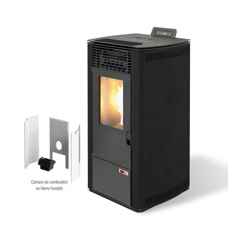 Estufa de pellets biomasa maxlor burn 12 g 10kw alto - Estufa de pellets ...