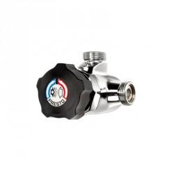 Grifo mezclador ducha temporizado para ducha Presto ALPA 80 negro