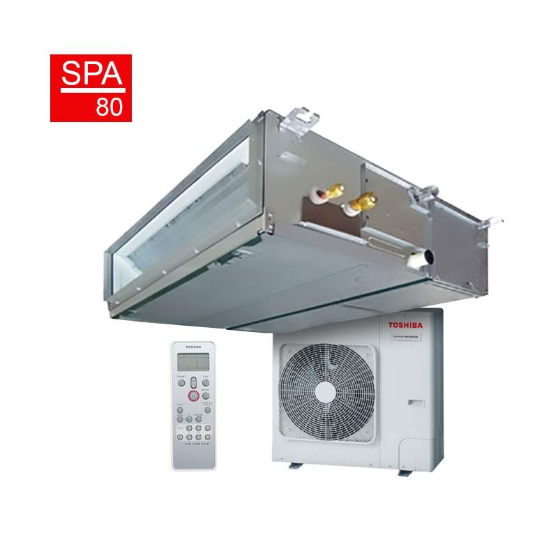 Aire acondicionado por conductos toshiba spa inverter 80 for Aire acondicionado conductos