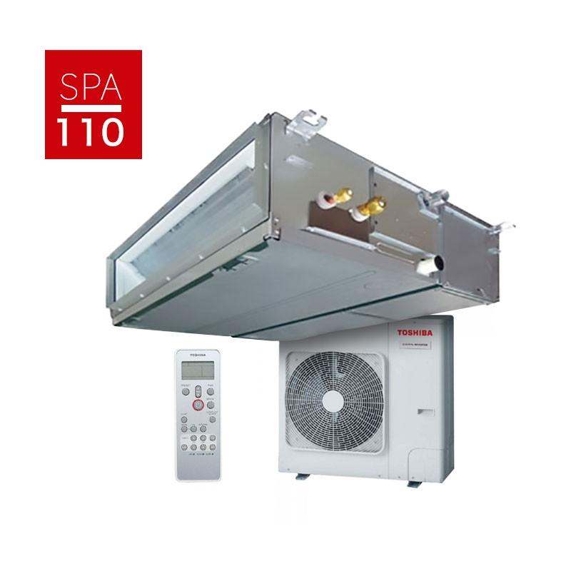 Aire acondicionado por conductos toshiba spa inverter 110 for Aire acondicionado conductos