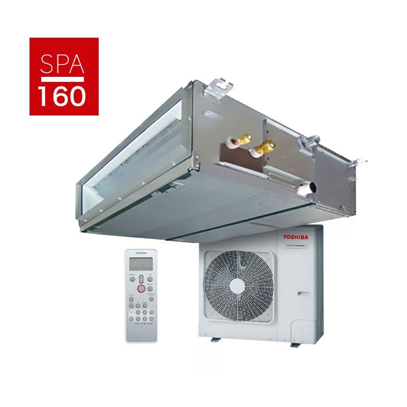 Aire acondicionado por conductos toshiba spa inverter 160 for Aire acondicionado oficina
