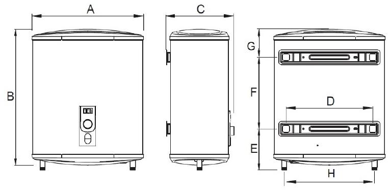 Termo eléctrico horizontal / vertical Aparici P