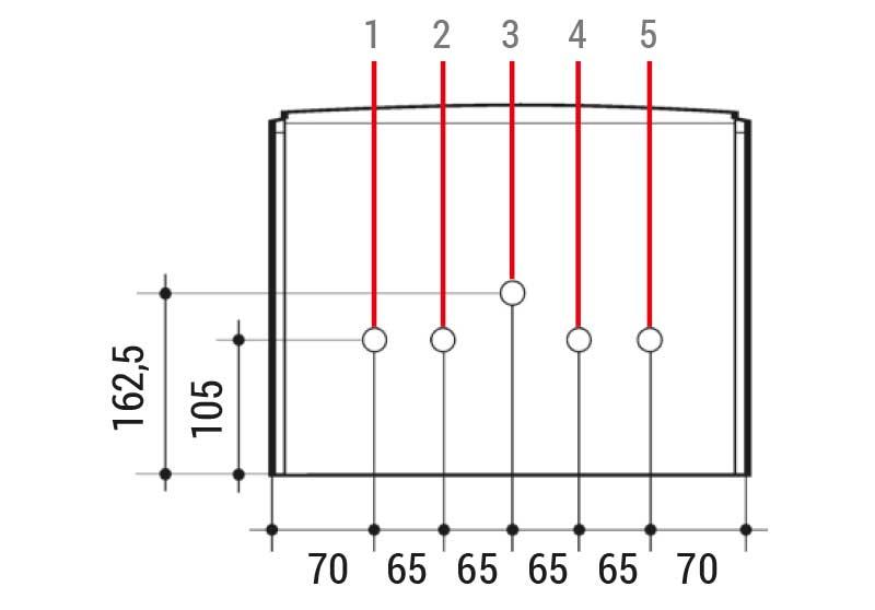 Medidas caldera Baxiroca Neodens Plus ECO 24/24 F
