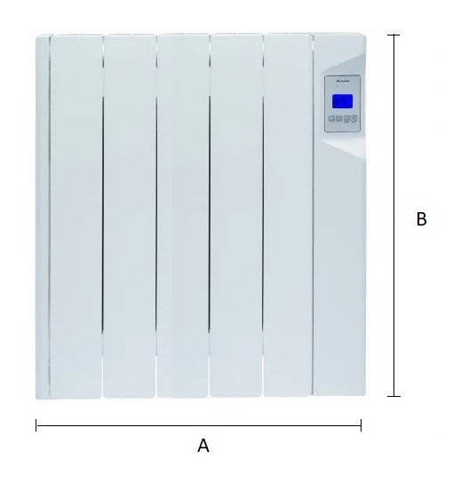 Dimensiones del emisor térmico eléctrico Ducasa AVANT DGP-E-LC 750 W