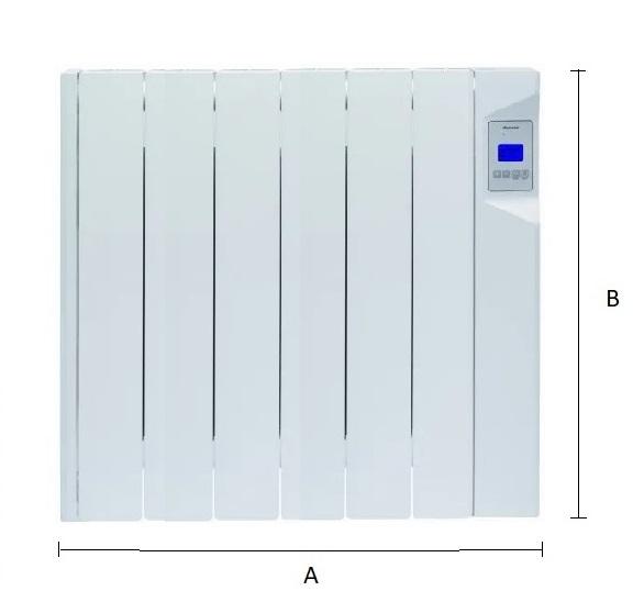 Dimensiones del emisor térmico eléctrico Ducasa AVANT DGP-E-LC 900 W