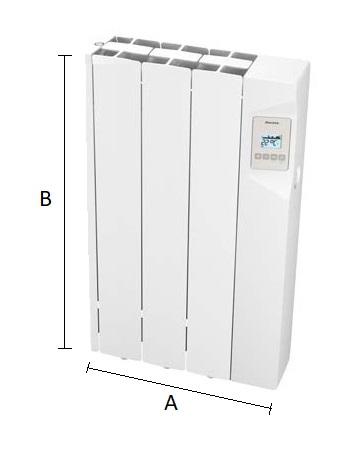 Dimensiones del radiador eléctrico Ducasa AVANT WIFI 450