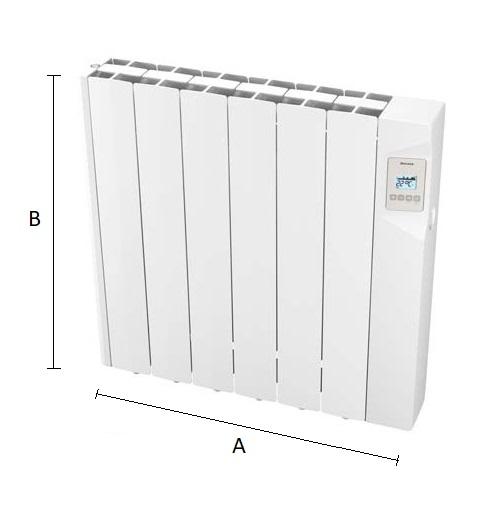 Dimensiones del radiador eléctrico Ducasa AVANT WIFI 900