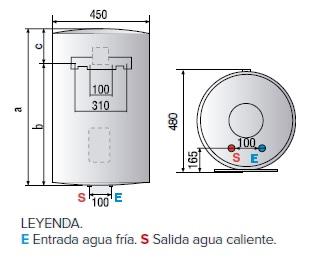 Dimensiones del Termo eléctrico Ariston Lydos R