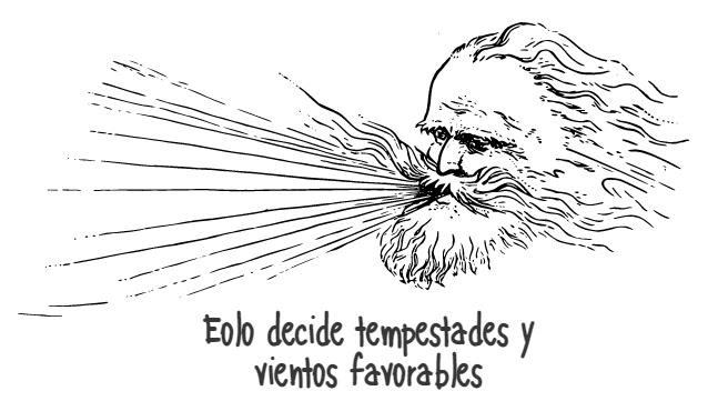 Eolo decide tempestades y vientos favorables