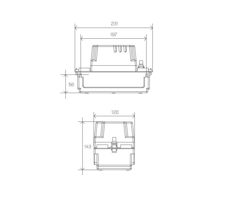 Medidas bomba condensador SFA Sanitrit Sanicondens Mini