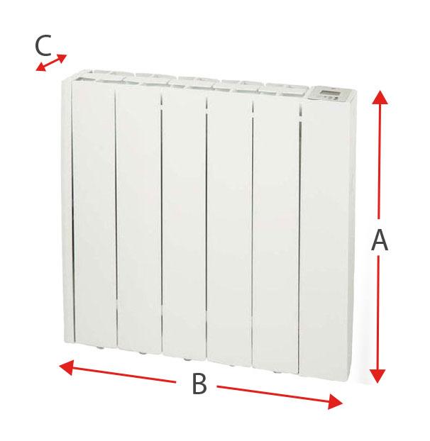 Dimensiones del radiador eléctrico Soler y Palau EMI-TECH 5