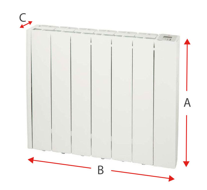 Dimensiones del radiador eléctrico Soler y Palau EMI-TECH 6