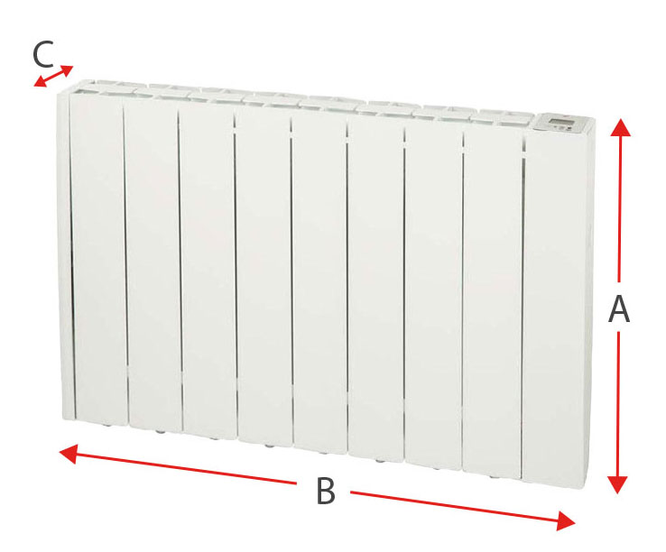 Dimensiones del radiador eléctrico Soler y Palau EMI-TECH 8