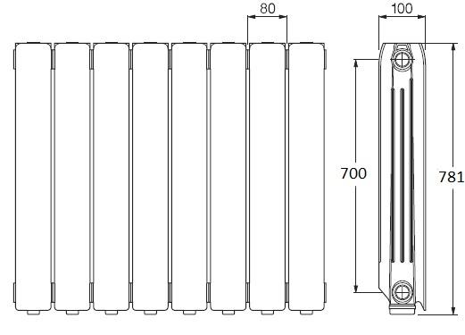 Radiador de agua Ferroli Europa 800C