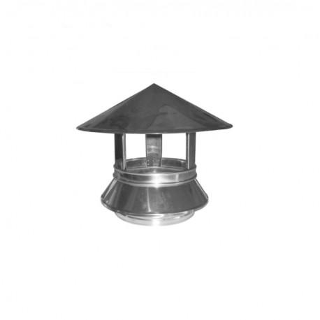 Sombrerete Ø80mm para estufa de pellets en acero inoxidable Dinak DW Pellets