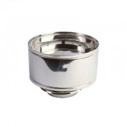 Sombrerete antilluvia Ø100mm para estufa de pellets en acero inoxidable Dinak DW Pellets