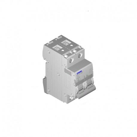Interruptor magnetotérmico bipolar 20 A Curva C Efapel