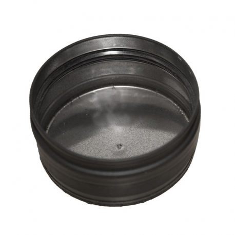 Colector hollín Dinak en acero vitrificado negro de simple pared Ø80 mm Deko Pellets