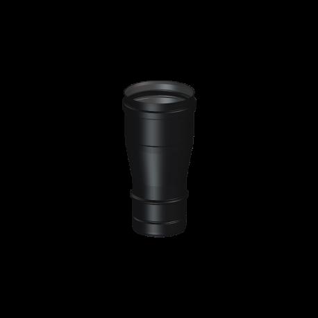 Tubo vitrificado negro de simple pared de Ø80 mm Deko Pellets (1 metro)