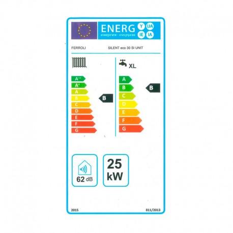 Etiqueta energética Caldera de gasoil Ferroli SILENT eco 30 SI UNIT Low NOx
