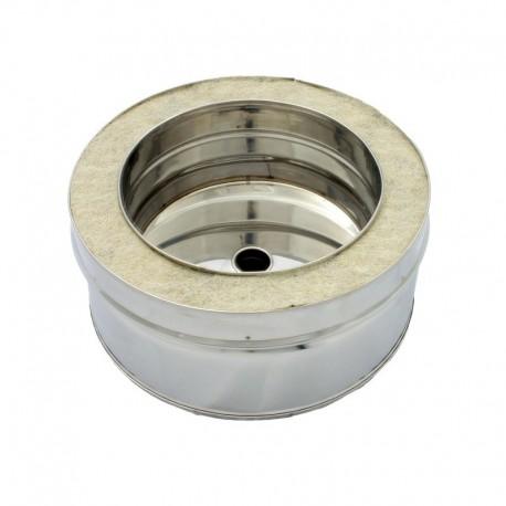Colector hollín con desagüe de doble capa 100 mm para estufa de pellets acero inox Dinak DW Pellets