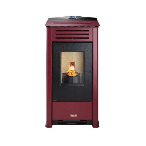 Estufa Pellets Ferroli OMEGA PLUS 10,41 Kw para calefacción de estancias diáfanas clase de eficiencia energética A+